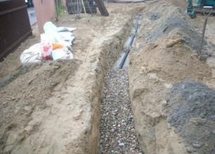 お庭の水はけ改善 暗渠排水工事 新潟市北区