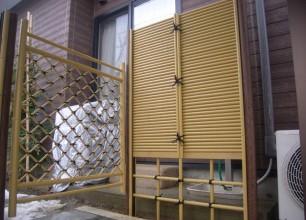 新潟市秋葉区にて竹垣の施工