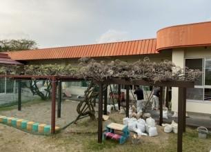 藤棚の増設 安野こども園様外構リフォーム工事