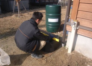 雨水タンク設置してきました!新潟市北区I様邸