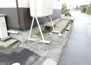 側溝の補修とさび御影石の縁石 新発田市E様邸のリフォーム