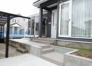 広々駐車スペースとサンルーム 阿賀野市I様邸の外構エクステリアリフォーム