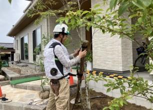 既存の庭石を活かして。お家まわりのリノベーション。阿賀野市W様邸