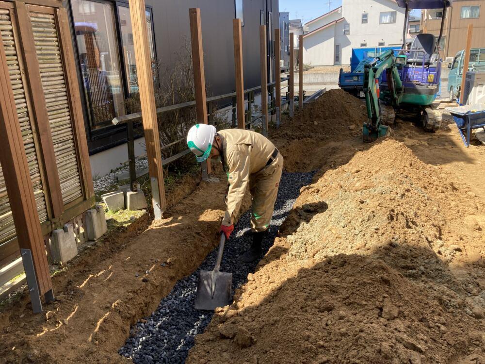 暗渠排水工事